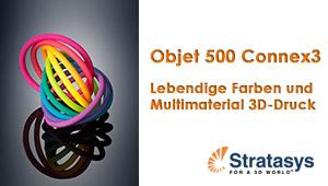 farbige Modell auf dem Objet500 Connex3