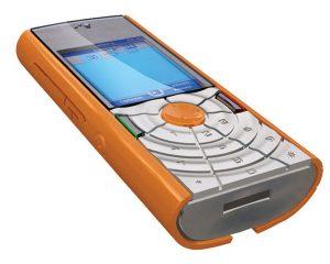 Dieses Mobiltelefon entwarf Aran mit einem Objet 3D Drucker.