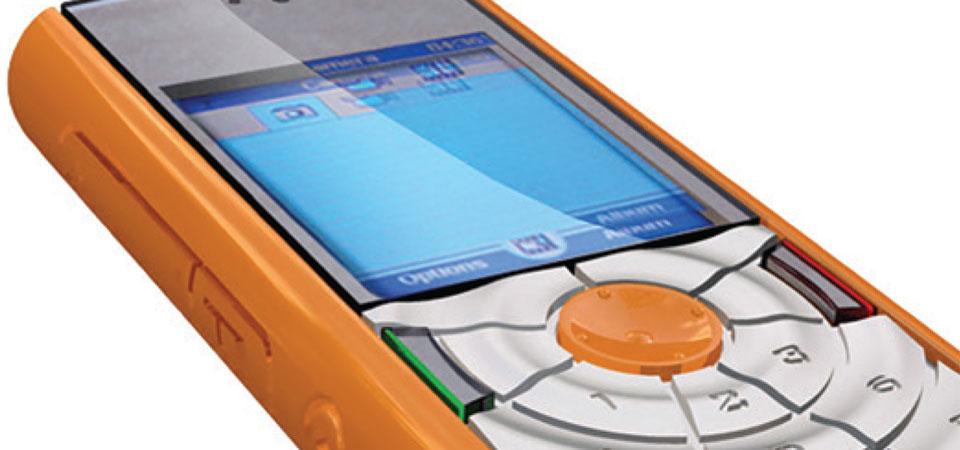 Prototyp eines 3d gedruckten Mobiltelefons von Aran R&D.