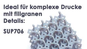 3D-Drucker-Material: SUP706 - Ideal für komplexe Drucke mit filigranen Details. auswaschbares Stützmaterial für Connex