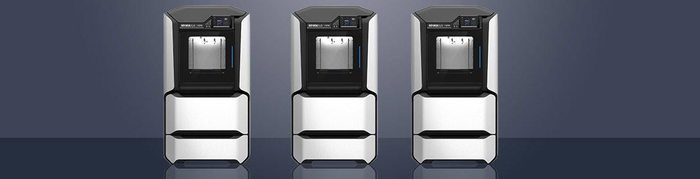 F123-Serie der 3D-Drucker von stratasys. F170, F270 und F370