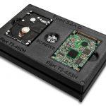 FDM-Material ABS-ESD7. Material für 3D-Drucker mit FDM-Technologie. Kopierstation für Festplatten aus Kunststoff. Montagehilfe zur Festplattenmontage, ABS-ESD7