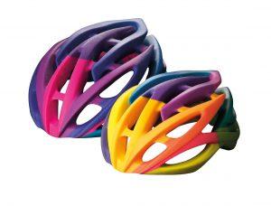 Fahrradhelm als Beispiel für feste und blickdichte PolyJet Materialien