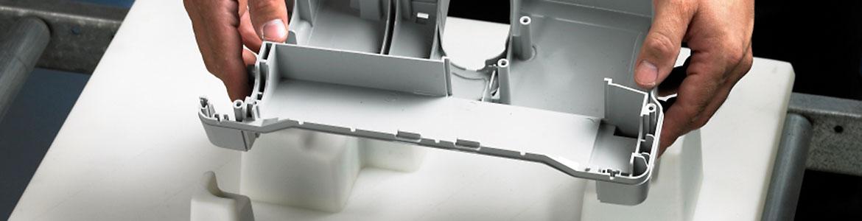 Mit FDM Material gedrucktes Bauteil.