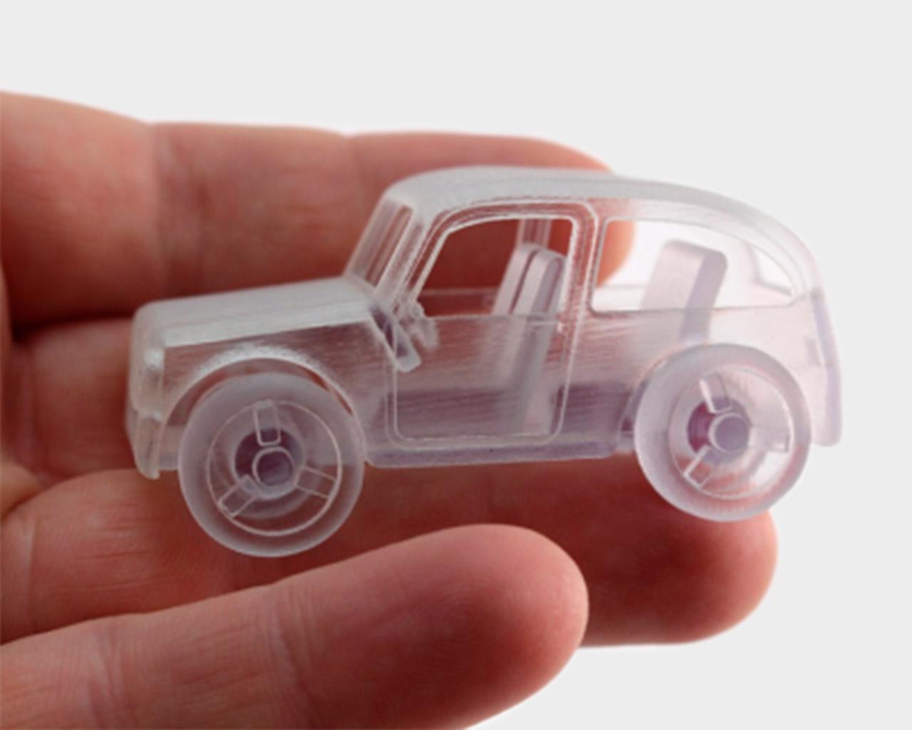 Aus VeroClear gedrucktes kleines Auto