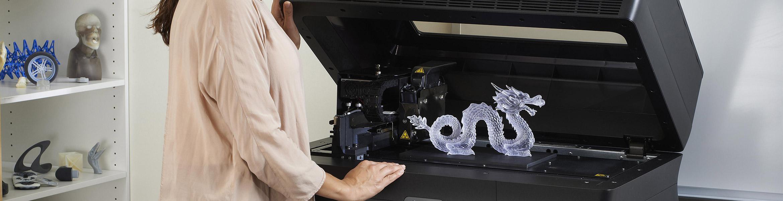 Detailierte Information zu dem PolyJet 3D Drucker Objet30 Pro.