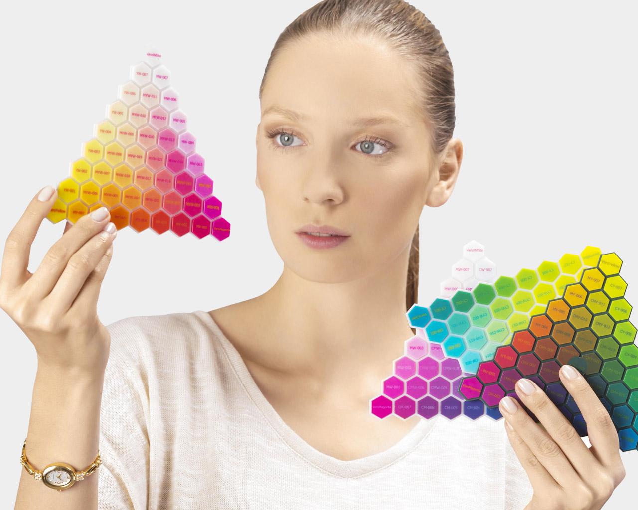 PolyJet Connex 3D Druckmuster verschiedene Materialien.