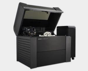 Seitliche Ansicht Multimaterialdrucker Objet 500 Connex 1.