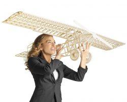 Flugzeugmodell, gedruckt mit dem Objet1000 Plus