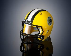 Mit der Connex 3 3D gedruckter Football Helm