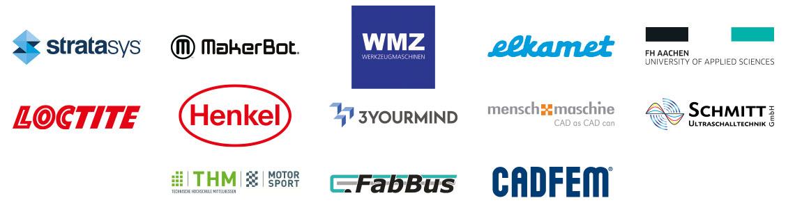 Logos Aussteller und Referenten 1. Mittelhessische 3D-Druck Tagung