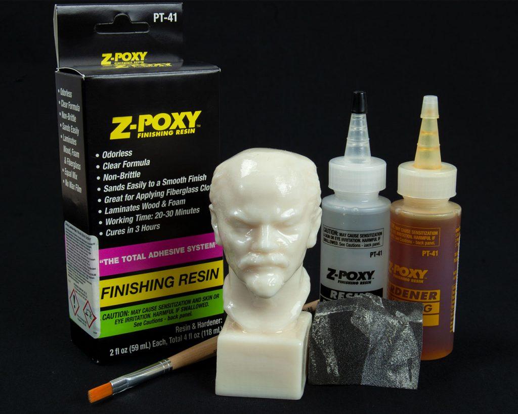 3D Modell nach dem Überzug mit Z-Poxy Epoxydharz