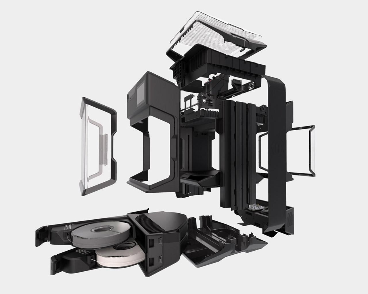 Teiledarstellung des MakerBot Method