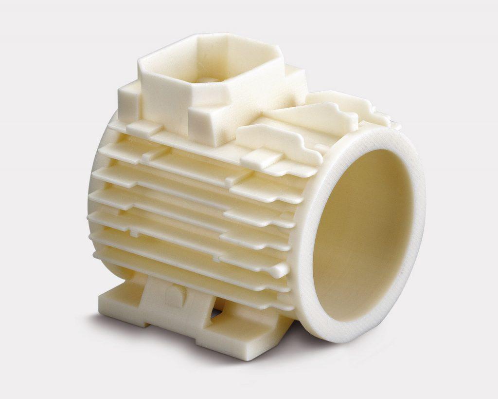 Prototyp aus ABS mit der Nutzung des löslichen Stützmaterials