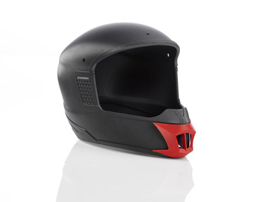 3D gedruckter Motorradhelm