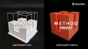 Vergleich Geschwindigkeit Desktop vs. Method