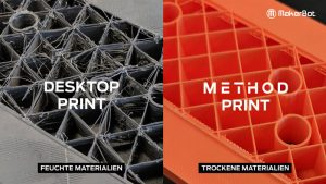 Vergleich Materialien Desktop vs. Method