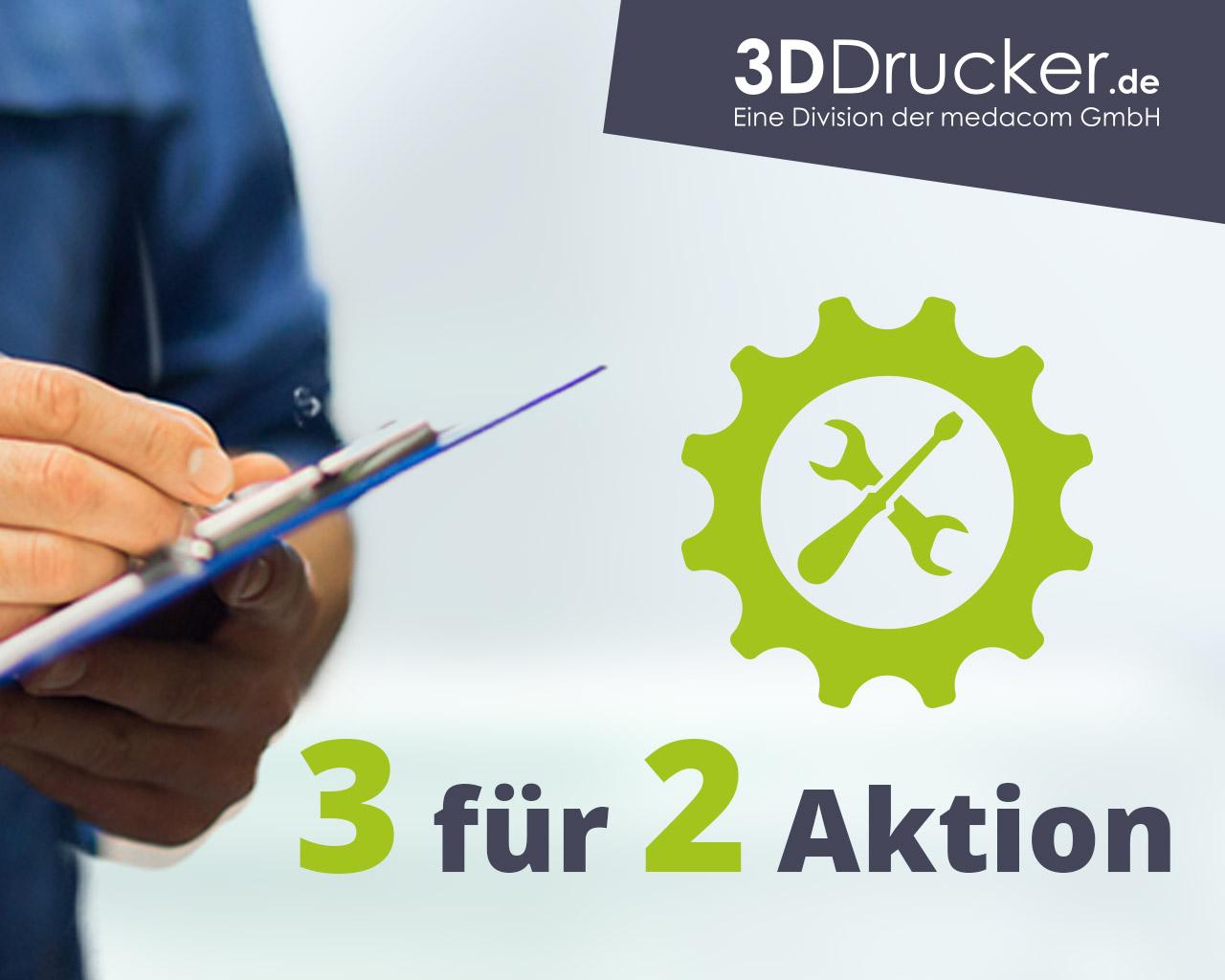 3D Druck Angebot | 3 für 2 Aktion