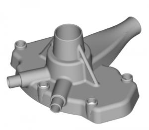Modell Wasserpumpengehäuse