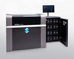 Mit dem Vollfarb 3D-Drucker J850 können Sie sieben verschiedene Materialien in einem Bauteil kombinieren