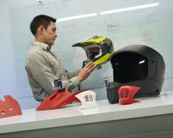 Stratasys F370 – Prototyp eines Motorradhelms
