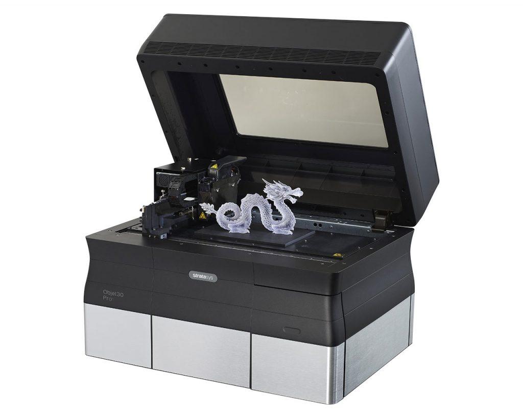 Der Objet30 Pro verarbeitet acht verschiedene PolyJet Materialien