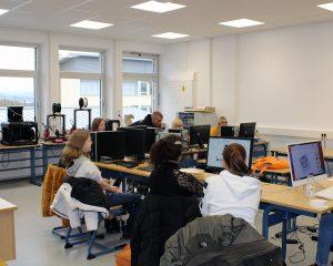 Die Schüler der Johann-Textor-Schule entwerfen weitgehend selbstständig ihre Modelle.