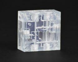 Auch transparente Materialien sind für den V650 Flex verfügbar.