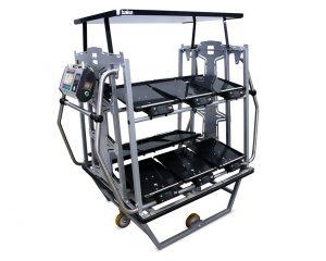 Balea-Wagen mit elektronischen Wiegesystemen zum Laden der richtigen Warenmenge bei der Auftragsvorbereitung.