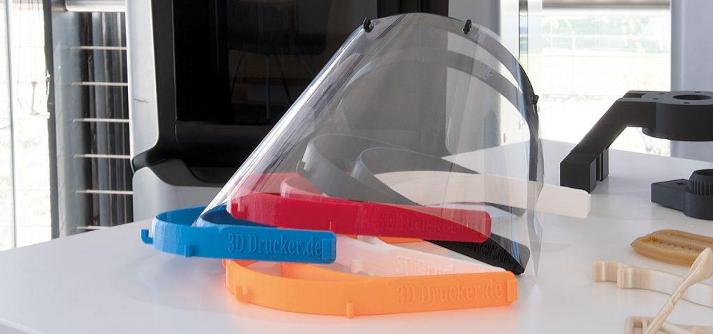 Schutzvisiere aus dem 3D-Druck