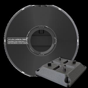 Carbonfaserverstärktes Nylon mit Spann-Bauteil auf dem Makerbot Method Carbon Fiber Edition gedruckt
