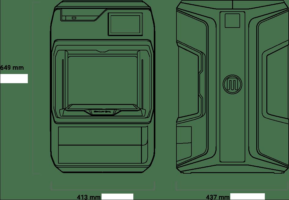 MAkerBot Method Technische Daten für Abmessungen