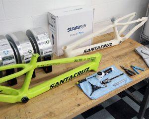 Design-Konzept Fahrradrahmen 3D gedruckt mit ASA-Material.