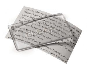 Linse aus transparentem VeroClear