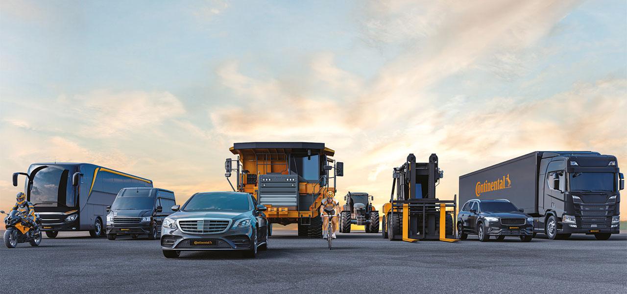 Continental zählt zu den Technologieführern in der Automobilbranche und bietet eine breite Produktpalette für Pkw, Nutzfahrzeuge und Zweiräder an (Bild: Continental AG).