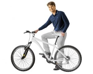 Mit dem Multimaterial 3D-Drucker J4100 gedrucktes Fahrrad.