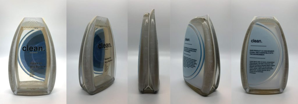 Transparente Prototypen mit VeroClear-Material gedruckt auf der J55