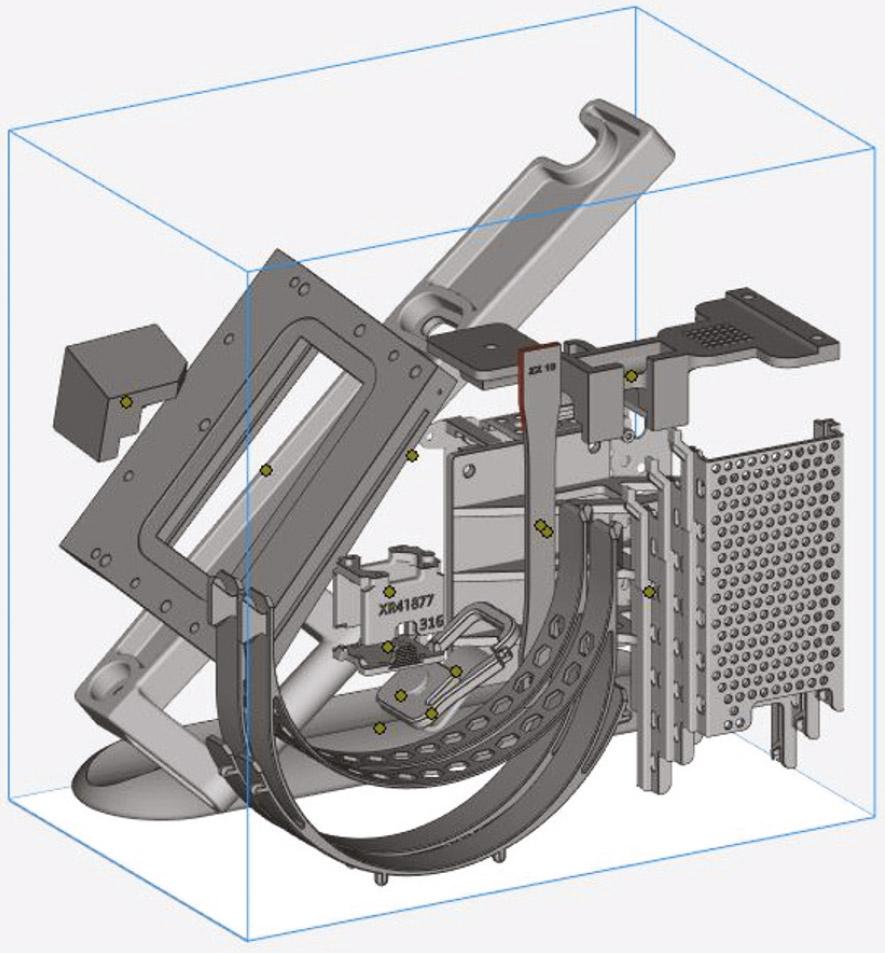 Beim 3D-Nesting können in einem Bauraum mehrere Bauteile verschachtelt werden.